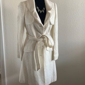 Off white spring coat